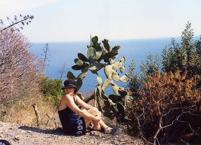 L loved cacti-cinque terre, italy on our honeymoon 7/02